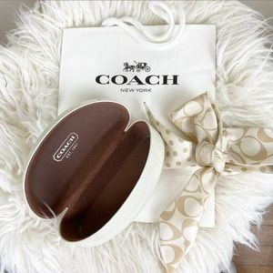 Coach Sunglasses Case with Bow and Bag